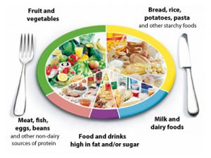 Balanced eating includes eating a wide variety of food