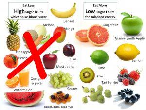 Choose low sugar foods